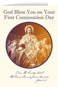 Bread of Angels First Communion Greeting Card III