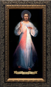Divine Mercy Vilnius Original - Ornate Dark Framed Art
