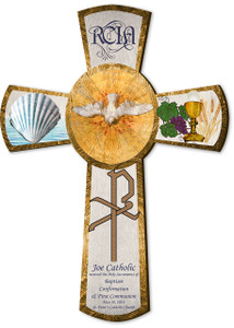 "Personalized RCIA 10"" Gift Cross"