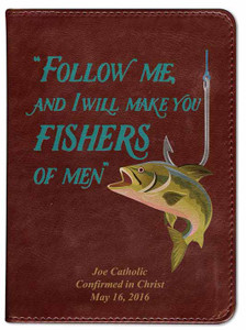 Personalized Catholic Fisherman's Bible - Burgundy RSVCE