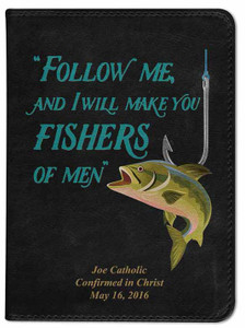 Personalized Catholic Fisherman's Bible - Black RSVCE