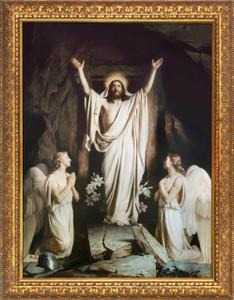 The Resurrection by Carl Bloch - Gold Framed Art