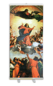 Assumption of the Virgin by Titian Banner Stand