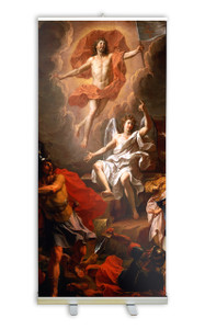 Resurrection of Christ by Coypel Banner Stand