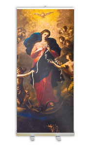 Mary Undoer of Knots Banner Stand