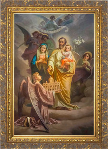 Joseph, Patron of the Church Canvas - Ornate Gold Framed Art