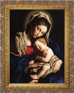 Madonna and her Child - Ornate Gold Framed Art