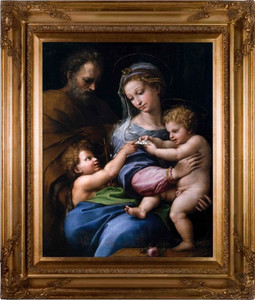 Madonna della Rosa Canvas - Gold Museum Framed Art