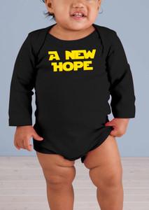 A New Hope Long-Sleeve Black Baby Onesie II