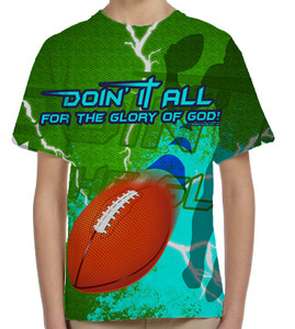 """Doing It All"" Football Graphic Children's Poly T-Shirt"