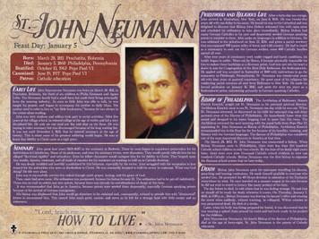 St. John Neumann Explained Poster