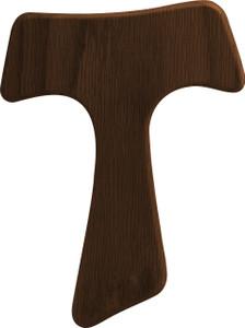 Franciscan Tau Wood Cross - Walnut