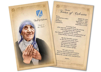 St. Teresa of Calcutta Commemorative Prayer Card