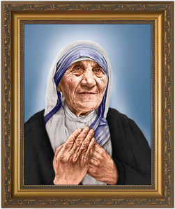 St. Teresa of Calcutta Canonization Portrait - Gold Framed Art