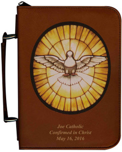 Personalized Bible Cover with Holy Spirit Graphic - Tawny