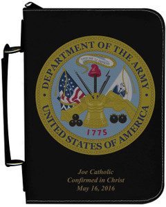 Personalized Bible Cover with Arny Graphic - Black