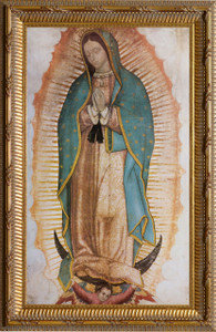 Our Lady of Guadalupe (Traditional) Basilica Gold Framed Art
