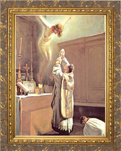 The Holy Sacrifice of the Mass - Ornate Gold Framed Art