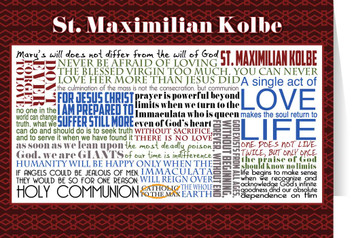Saint Maximilian Kolbe Quote Card