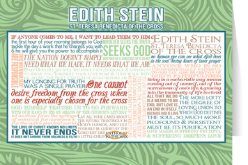 Edith Stein (St. Teresa Benedicta of the Cross) Quote Card