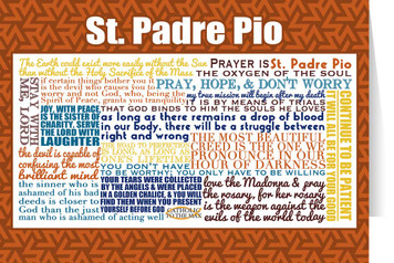 Saint Padre Pio Quote Card