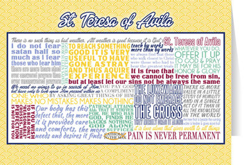 Saint Teresa of Avila Quote Card