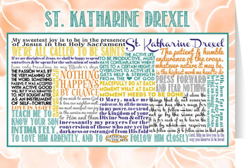 Saint Katharine Drexel Quote Card