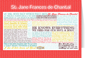 Saint Jane Frances de Chantal Quote Card