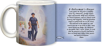 The Protector: Police Guardian Angel Mug with Policeman's Prayer