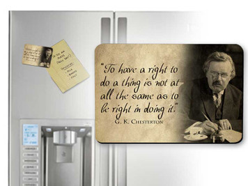 G.K. Chesterton Rights Quote Magnet