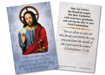 Jesus Christ First Communion Holy Card