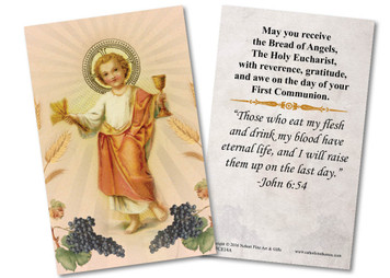 Christ Child First Communion Holy Card