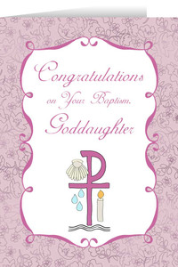 Goddaughter's Baptism Greeting Card
