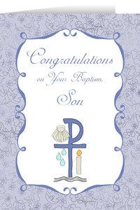 Son's Baptism Greeting Card
