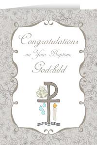 Godchild's Baptism Greeting Card