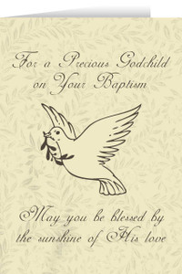 Godchild's Baptism Dove Greeting Card