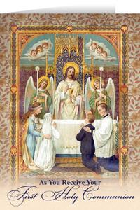 Jesus First Communion Greeting Card