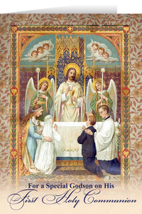 Godson's First Communion Greeting Card