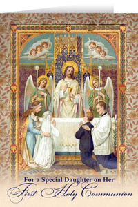 Daughter's First Communion Greeting Card