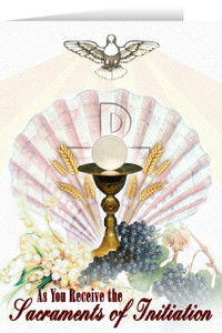 Eucharist RCIA Greeting Card