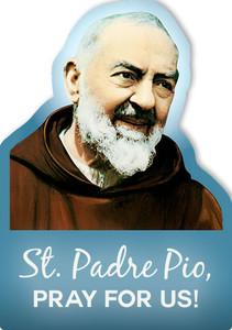 St. Padre Pio Visor Clip
