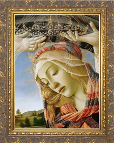 Madonna of the Magnificat (Detail) Canvas - Ornate Gold Framed Art
