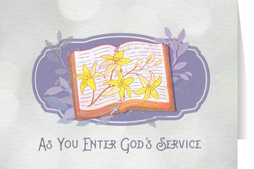 God's Service Final Vows Greeting Card