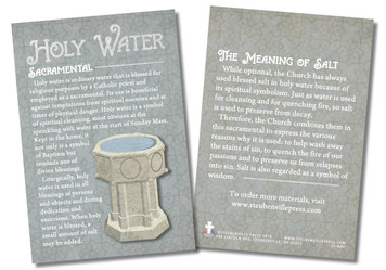 Holy Water Faith Explained Card - Pack of 50