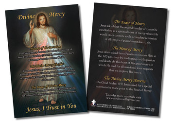 Divine Mercy Faith Explained Card - Pack of 50