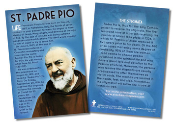 St. Padre Pio Faith Explained Card - Pack of 50