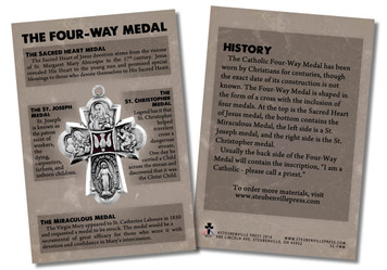 The Four-Way Medal Faith Explained Card - Pack of 50