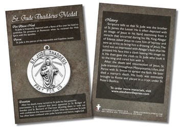 St. Jude Thaddeus Medal Faith Explained Card - Pack of 50