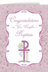 On Your Daughter's Baptism Greeting Cards
