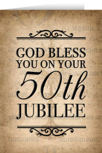 Monstrance 50th Jubilee Greeting Cards
